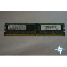 Модуль памяти DDR-2 ECC Reg DIMM, 512 MB, Samsung, 240 pin, CL3,64x8, DDR2-400, 1Rx8,1.8V, PC2-3200 CL 3