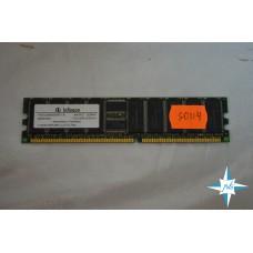 Модуль памяти DDR ECC Reg DIMM, 512 MB, Infineon Memory, HYS72D64500GR-7-B, PC2100R