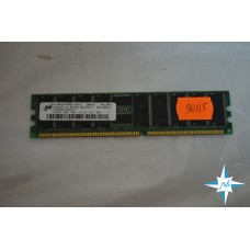 Модуль памяти DDR ECC Reg DIMM, 512 Mb, Micron, 266MHz, CL2.5, 184-Pin, Single Rank, PC2100