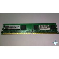 Модуль памяти DDR-2 noECC Unbuf DIMM, 512 MB, Transcend, 240 pin, CL5, 503232/512, DDR2-667, 1Rx8, 1.8V
