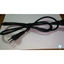 Кабель питания с заземлением USA-227 IEC 53(RVV) / IEC 60320 C13, 10А/250В (3x0,75), длина 1,8 м.