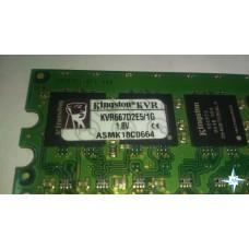 Модуль памяти DDR-2 ECC Unbuf DIMM, 1 Gb, Kingston KVR667D2E5/1G, 667 Mhz, PC2-5300