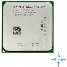 процессор Socket AM2 AMD K8 Processor Athlon 64 x2 5200+ (2.7 Ghz, 65W, dual-core desktop CPU) #Part Number ADO5200IAA5DO