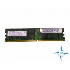 Модуль памяти DDR-2 ECC Reg DIMM, 2 Gb, Elpida EBE21RD4AGFB-4A-E/2G, 333 Mhz, PC2-3200