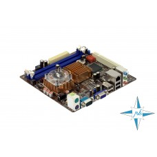 Материнская плата CPU on board, Asus ITX 220 (1 PCI, 2 DDR2 DIMM, Audio, Video, Gigabit LAN, CPU)