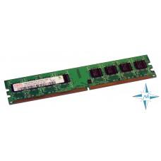 Модуль памяти DDR-2 noECC Unbuf DIMM, 1 GB, Hynix, 240 pin, CL5, HYMP512U64CP8-Y5/1G, DDR2-667, 2Rx8, 1.8V