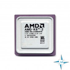 процессор Socket 7 AMD K6-2 Processor 266AFR (32К Cache, 266 MHz, 66 MHz FSB) #Part Number 266AFR