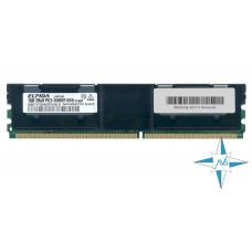 Модуль памяти DDR-2 ECC FB DIMM, 1 Gb, Elpida EBE11FD8AGFD-6E-E, 667MHZ PC2-5300 CL5