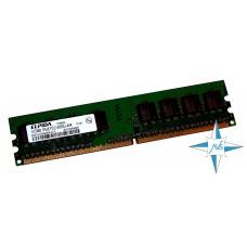 Модуль памяти DDR-2 noECC Unbuf DIMM, 512 MB, Elpida, 240 pin, CL5, EBE51UD8AGWA-5C, DDR2-533, 1Rx8, 1.8V
