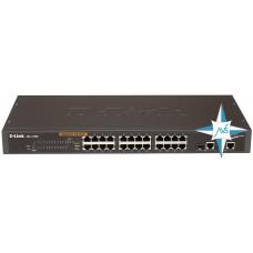 Коммутатор D-Link DES-1226G, порты 24xRJ45, 2xRJ45/SFP